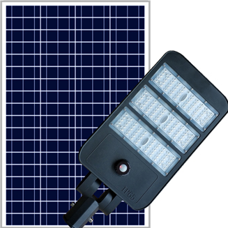 High brightness lumens Semi integrated solar street light with Life PO4 battery